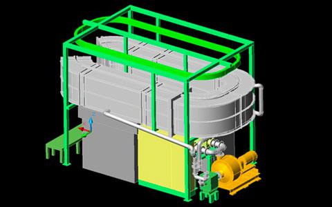 流動層式加熱装置・砂冷却装置 | 株式会社タニキカン 事業内容