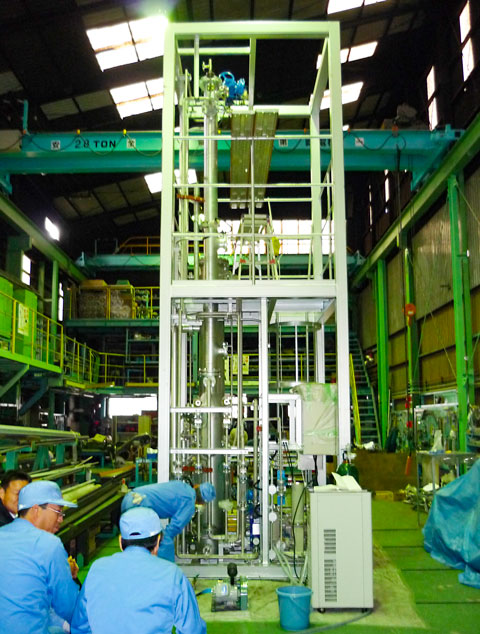 CO2分離パイロット試験設備 現地製作、据付 | 株式会社 タニキカン 制作実績