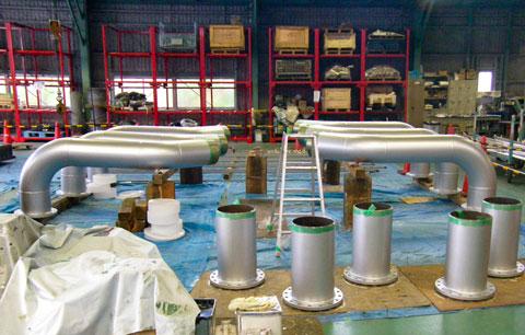 火力発電所向け配管製作 | 株式会社タニキカン 製作実績